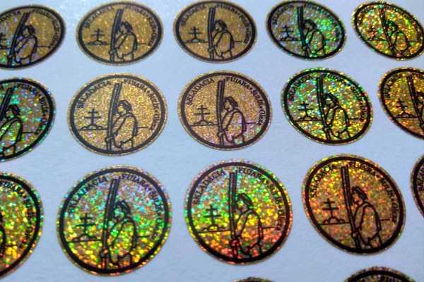 Holografická zlatá fólia