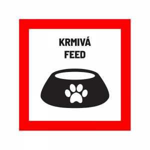 Nálepka označujúca prepravu krmiva