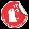 Použivajte rukavice nálepka