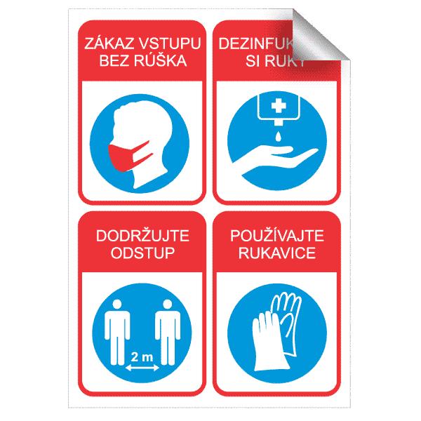 Nálepka pre prevádzky a predajne koronavirus