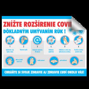 nalepka umyvanie ruk koronavirus COVID-19
