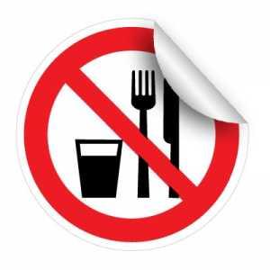 Nálepka – Zákaz jedenia a pitia na tomto mieste