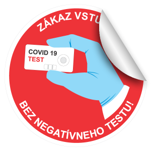 zakaz vstupu bez negativneho testu